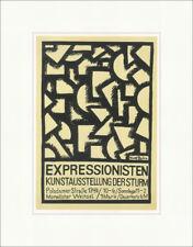 Expressionismus Ausstellung Der Sturm Rudolph Bauer Kunstdruck Plakatwelt 944