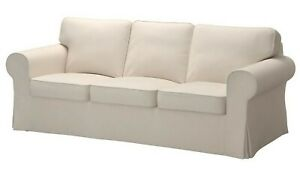 Ikea EKTORP 3-Seat Sofa (NOT Loveseat) COVER ONLY Lofallet Beige - NEW