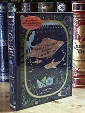 TWENTY THOUSAND LEAGUES UNDER SEA by JULES VERNE Illustrated, Leather & NEW!