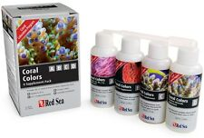 Red Sea Coral Colors A B C D 4 x 100ml Marine Reef Colours Supplement Fast Deliv