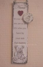 Wall Plaque Nana & Keyring It's Not Where You Are In Life Its Teddy Sign  F1388C