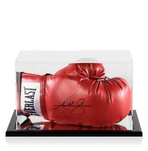 Anthony Joshua Signed Red Everlast Boxing Glove In Acrylic Case Autograph