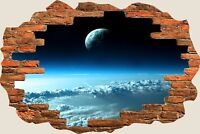 3D Hole in Wall Above The Clouds View Wall Sticker Film Mural Art Wallpaper 36