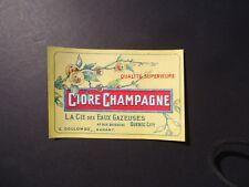 """1940s  Sodas Bottle Label Cidre Champagne"""" La Cie des Eaux Gazeuses Quebec"""