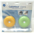 GE Cable Neat Clams Cable Organizing Device Tie Ball-shaped Rubber NOS Computer