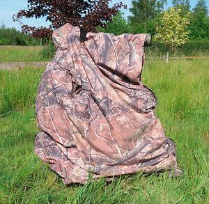 LIGHTWEIGHT CAMOUFLAGE BAG HIDE for Wildlife Bird Watching Photography leaf