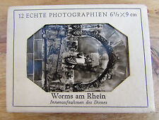Old Vintage 1950's German Snapshots 12 photographs of Worms Church Sculptures