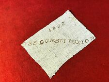 Rare Sail Fragment From Battleship Uss Constitution - War Of 1812 - Great Cond