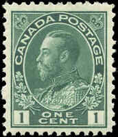 Canada Mint NH 1911 F-VF Scott #104 1c Admiral King George V Stamp Issue