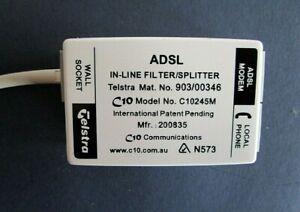 Genuine C10 Communications Telstra Inline Filter / Splitter ADSL Modem Phone