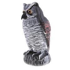 Garden Owl Repels Birds Repeller Defense Figure Decor Fairy Statue Plastic