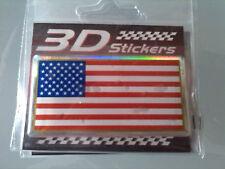 Adesivo 3D resina morbida bandiera USA U.S.A. Stati Uniti America americana