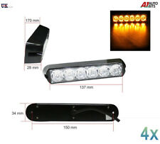 4x 6 LED Strobe Flashing Recovery Lightbar 12V Amber Truck beacon Lights 12V 24V