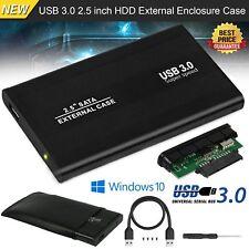 USB 3.0 SATA Externes HDD 2.5 Zoll Schwarz Festplattengehäuse Gehäuse Caddy