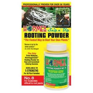 Hormex Snip n Dip Rooting Powder No. 8 3/4 OZ - Root Growth Hormone Cloning