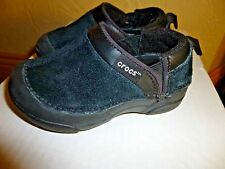 CROCS  Cameron Suede Black Shoes Slide On SZ Toddler 7
