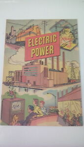 1952 WESTINGHOUSE SCHOOL SERVICE 24-Page Comic Book ELECTRIC POWER
