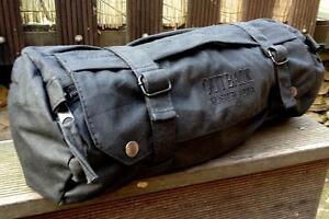 42cm Wax Wachs Lenker Sattel Pack TASCHE Toolbag Chopper Werkzeugrolle schwarz