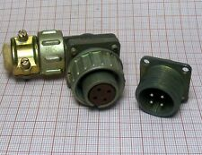 Connector 4-pin to military radio station MALE + FAMALE [M1-SZ1]
