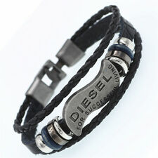 Multilayer DIESEL Leather Bracelet Men Women Casual Fashion Braided Bracelet