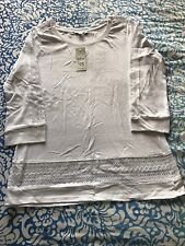 Target Collection Ladies White 3/4 Sleeve Casual Top - Size 6