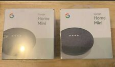 (2) Google Mini Google Personal Assistant Charcoal Brand New and Sealed