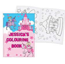 PERSONALISED Childrens Colouring in Book - Girls Princess Pictures - Kids Gift