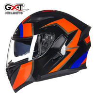 DOT Modular Flip Up Motorcycle Helmet Full Face Dual Visor Motocross Motorbike M