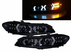 SILVIA S15 200SX 99-02 Halogen LED BAR Headlight Halogen Black for NISSAN LHD