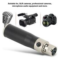 2x Mini-XLR 4Pin Female to Mini-XLR 3Pin Male Adapter for microphone SLR Camera