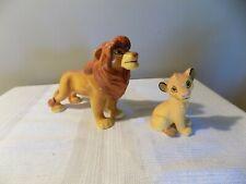 Disney Schmid Lion King Mufasa & Simba Figurine Lot Of 2 Euc