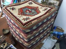 Persian Foot Stool in pure wool KILIM upholstery