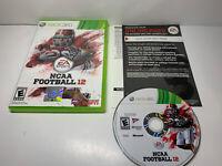 NCAA Football 12 (Microsoft Xbox 360, 2011) CIB Free Shipping