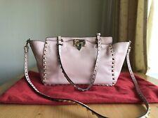 Authentic Valentino Garavani Rockstud Trapeze Pink Leather Hand Crossbody Bag