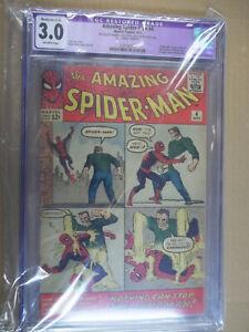 AMAZING SPIDER-MAN #4 1963 MARVEL 1ST APP OF SANDMAN Key issue
