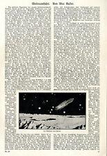 Max Valier Weltraumfahrt Raketenbau Mondlandung Bilder + Text von 1926