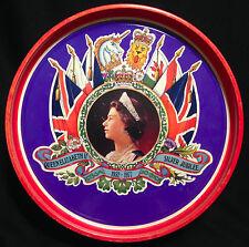 "Vintage Queen Elizabeth Silver Jubilee Round Tin, 10.2"" Dia (26cm), 3"" Tall"