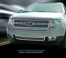 Upper Dual Weave Mesh Grille Insert For Ford Edge 2007 2008 2009 2010