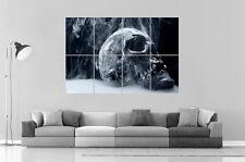 SKULL TETE DE MORT SMOKING Wall Art Poster Grand format A0 Large Print