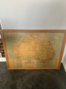 TAA airline vintage framed poster