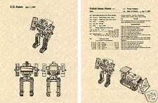 Transformers BONECRUSHER Patent Art Print READY TO FRAME!! G1 Decepticon Dozer