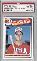 Mark McGwire Original 1985 Topps USA Baseball Team Card #401 Graded by PSA 8