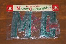 Merry Christmas Foil Garland Nip Bright Star Banner Sign Japan Embossed