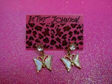 Betsey Johnson Butterfly Dangle Earrings