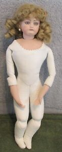 Antique Reproduction French Fashion Artist Reproduction Doll~Porcelain/Kid Body