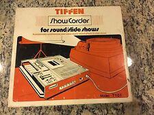 Rare Vintage Tiffen 7101 Show/Corder Show Corder Slide Show Voice Tape Recorder