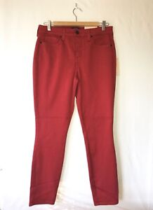 "NYDJ Jeans ""Ami Skinny"" Size 8 Red-Orange Stretch NWT Not Your Daughter's Jeans"