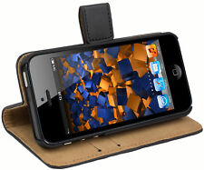 mumbi Ledertasche für Apple iPhone SE 5 5s Tasche Hülle Case Cover Handy Schutz