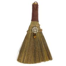"NEW Wicca Broom Mini Besom 8.5"" Handmade - Tree of Life w/ Tiger's Eye"