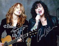 Heart Ann & Nancy Wilson signed 8x10 photo / autograph minor scratches